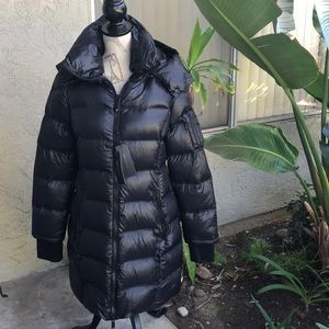 BCBG Max Azria down and feather coat